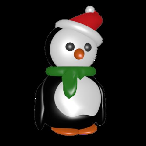Fichier imprimante 3D pingouin de Noël, Majin59