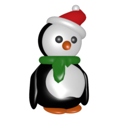 Download 3D printing templates Christmas penguin, Majin59