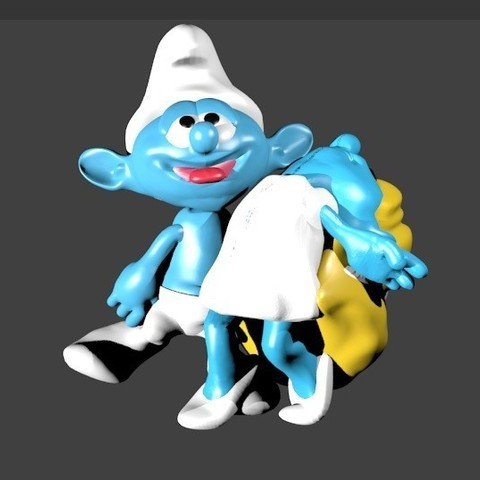 STL files couple dancers smurfs smurfs smurfs, Majin59