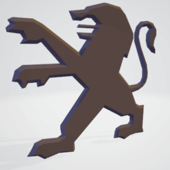 Download 3D printer files Peugeot logo, Majin59