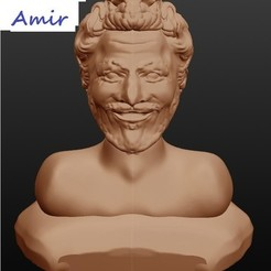 3D print model Amir, singer, Majin59