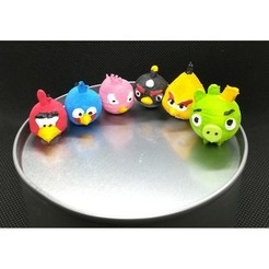 Download 3D print files Tsum Tsum my way: Angry Birds (6 figures), Majin59