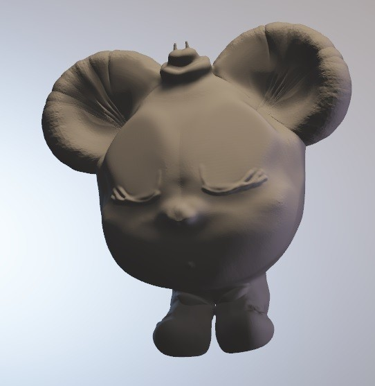 minnibulle.jpg Download free OBJ file Minnibulle (girl mouse series minitoys) • Template to 3D print, Majin59