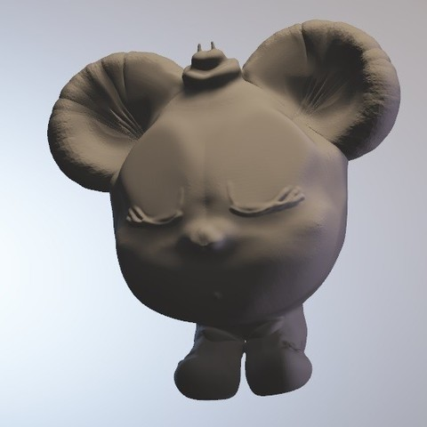 Free 3D print files Minnibulle (girl mouse series minitoys), Majin59