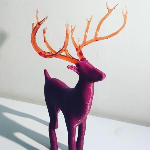 91A3B46B-1EA0-49B4-B8A9-2EECCB07BA7A.JPG Télécharger fichier STL gratuit Reindeer with an antlers twist! • Objet imprimable en 3D, serial_print3r