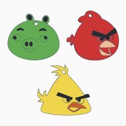 Descargar STL Llavero de Angrybirds, serial_print3r