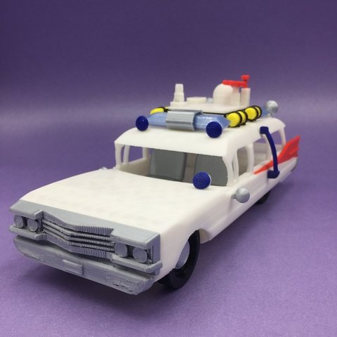 Free STL files ECTO - Ghostbusters car, serial_print3r