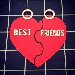 Download free 3D printing templates Best friends BFF during, serial_print3r