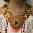 Free STL files Egyptian necklace - Egypt necklace, serial_print3r