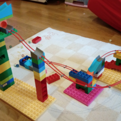 Free 3D printer designs Duplo compatible marble run - add on, serial_print3r
