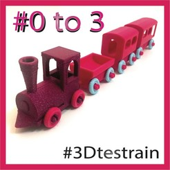 Descargar STL gratis 3D-Testrain - ¡compatible brillantemente!, serial_print3r
