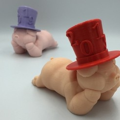 Download free 3D model PIG - Chinese New Year remix, serial_print3r