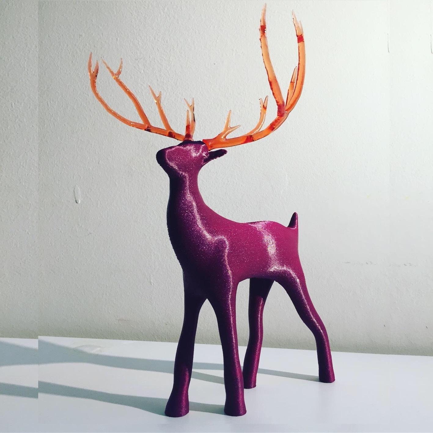 8652AD69-E85D-4B1C-B415-3FB5BDAB2146.JPG Télécharger fichier STL gratuit Reindeer with an antlers twist! • Objet imprimable en 3D, serial_print3r