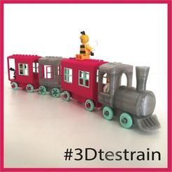 Testrain.jpg Télécharger fichier STL gratuit Train compatible Brio/Lego • Modèle pour impression 3D, serial_print3r