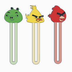 Download 3D printer files Bookmark angrybirds!, serial_print3r