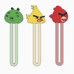 bookmark.png Télécharger fichier STL Bookmark angrybirds ! • Objet pour impression 3D, serial_print3r