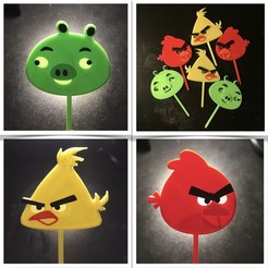 Download 3D printing files Cake toppers angrybirds, serial_print3r