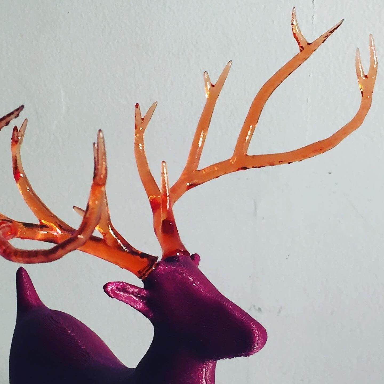 80AE9CD6-6628-4931-B1BE-5025F80DED06.JPG Télécharger fichier STL gratuit Reindeer with an antlers twist! • Objet imprimable en 3D, serial_print3r