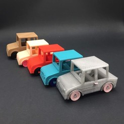 Download free 3D printer model Toy car - with functional wheels, serial_print3r