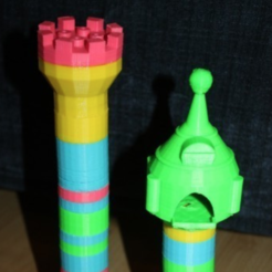 Free 3d print files Tower rapunzel / castle - duplo compatible, MySyl