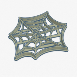 tela_araña.PNG Download STL file Cookie Cutter Spider Web Cookie Cutter • 3D printing design, ELREYSALE