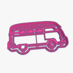 Download 3D printer files Cookie Cutter Volkswagen Kombi Van Cortante Galletita Combi Camioneta VW, ELREYSALE