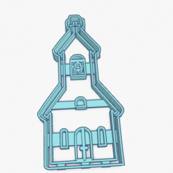 Download 3D printing designs Cookie Cutter Church Cortante Galletita Iglesia, ELREYSALE