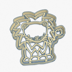 Download 3D printing designs Cookie Cutter Little Lion Cortante Galletita Leon Leoncito, ELREYSALE