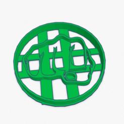 Imprimir en 3D Cookie Cutter Fist Hulk Cortante Galletita Puño Hulk, ELREYSALE