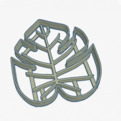 Download 3D printing designs Cookie Cutter Tropical Leaf Cookies Tropical Plant, ELREYSALE