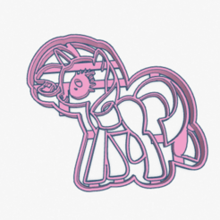 Download STL files Cookie Cutter My Little Pony Rarity Cortante Galletita, ELREYSALE