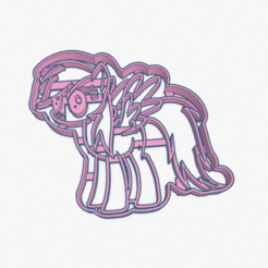 Captura de Pantalla 2020-05-03 a la(s) 00.58.31.png Download STL file Cookie Cutter Rainbow Dash My Little Pony Cortante Galletita  • 3D print model, ELREYSALE
