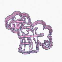 Download 3D printer files Cookie Cutter My Little Pony Pinkie Pie Cortante Galletita , ELREYSALE