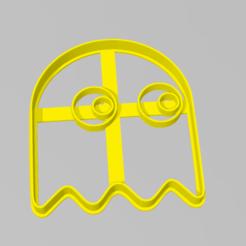 Fantamista PAcman.PNG Download STL file Cookie Cutter Ghost Pacman Ghost Cookie Cutter • Model to 3D print, ELREYSALE