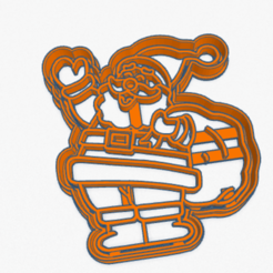Download 3D printing files Cookie Cutter Christmas Santa Claus Galletita Papa Noel Navidad, ELREYSALE
