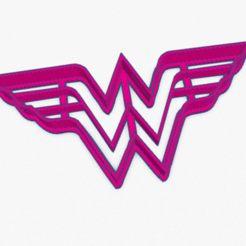 Download 3D printing designs Cookie Cutter Wonder Woman Cortante Galletita Mujer Maravilla, ELREYSALE