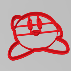 kirby2.PNG Download STL file Cookie Cutter Kirby Cookie Cutter • 3D printing design, ELREYSALE