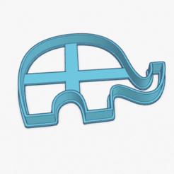 Download STL Cookie Cutter Little Elephant Baby Cortante Galletita Elefante Bebe, ELREYSALE