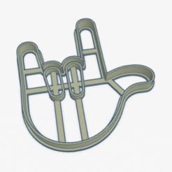 emoji ilove you hand.PNG Download STL file Cookie Cutter Emoji I Love You Hand Cookies • Design to 3D print, ELREYSALE