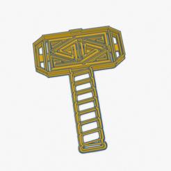Captura de Pantalla 2020-04-28 a la(s) 12.49.40.png Download STL file Cookie Cutter Hammer Thor SuperHero Cortante Galletita Martillo Superheroe • Template to 3D print, ELREYSALE
