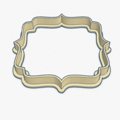 Download 3D printer model Cookie Cutter Frame Cortante Galletita Marco Viñeta, ELREYSALE