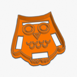 Download 3D printing files Cookie Cutter Owl Cortante Galletita Buho, ELREYSALE