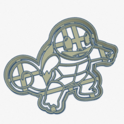 Download 3D printing files Cookie Cutter Squirtle Pokemon Cookie Cutter, facugb