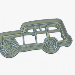 Download 3D printing templates Cookie Cutter Farm Truck Van Cortante Galletita Camioneta Estanciera, ELREYSALE