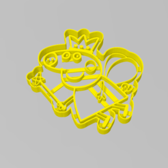 Download 3D printer templates Cookie Cutter Peppa Pig fairy Cookie Cutter, ELREYSALE
