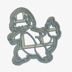 Download 3D printer templates Cookie Cutter Charmander Pokémon Cookie Cutter, facugb