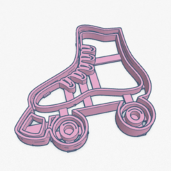 Download 3D printer designs Cookie Cutter Skates I am Luna roller skates Cutter, facugb