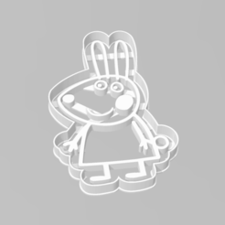 Download 3D printing templates Cookie Cutter Rabbit Peppa Pig Cookie Cutter Rabbit, ELREYSALE
