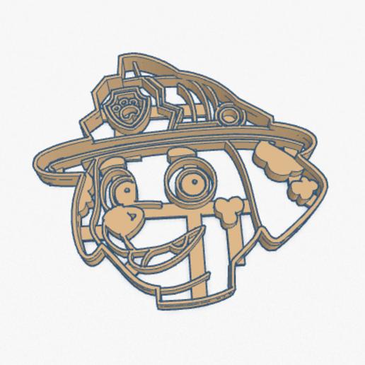 Captura de Pantalla 2020-04-25 a la(s) 20.08.42.png Télécharger fichier STL Coupeur de biscuits Marshall Paw Patrol Cortante Galletita • Design à imprimer en 3D, ELREYSALE