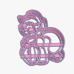 Download STL file Cookie Cutter My Little Pony AppleJack Cortante Galletita, ELREYSALE